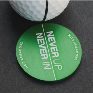 Never Up Never In – BIG ball marker